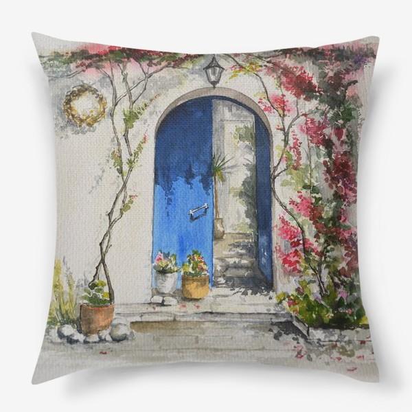 Подушка «Греческий дворик»
