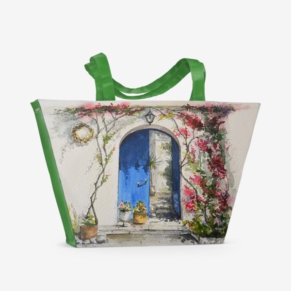 Пляжная сумка «Греческий дворик»