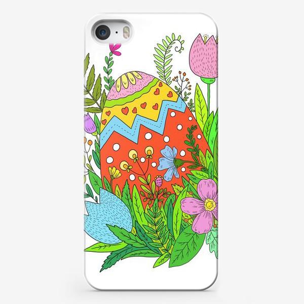 Чехол iPhone «Пасха яйцо и цветы»