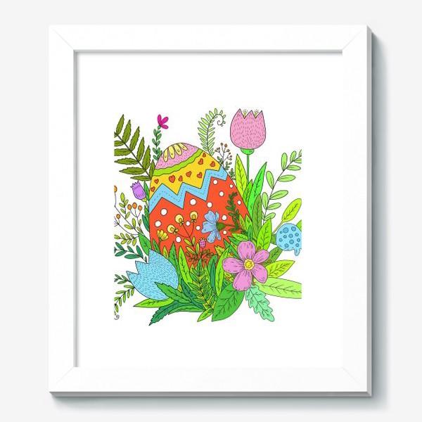 Картина «Пасха яйцо и цветы»