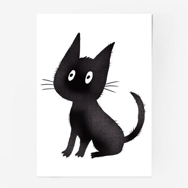 Постер «Милый чёрный кот»