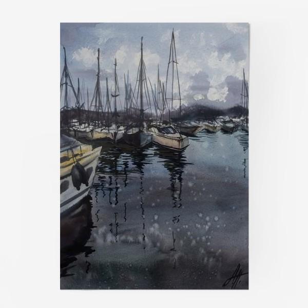 Постер «Лодки в порту»