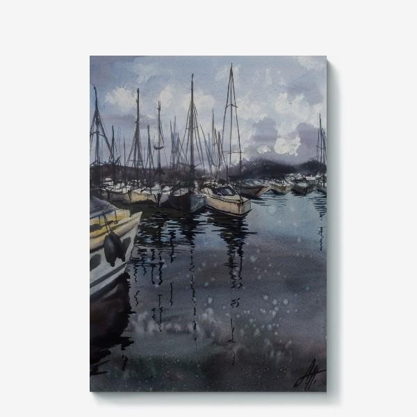 Холст «Лодки в порту»