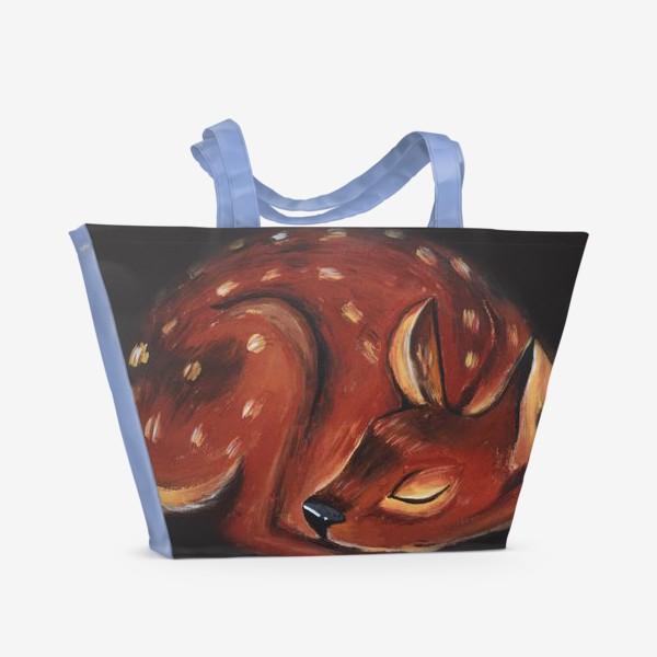 Пляжная сумка «Спящий олень»