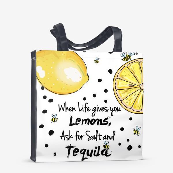 Сумка-шоппер «Лимонный»