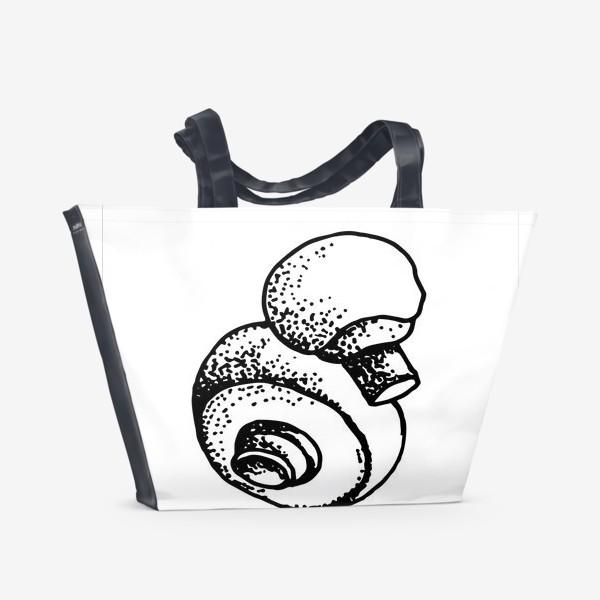 Пляжная сумка «Вкусный гриб»
