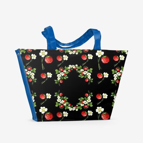 Пляжная сумка «Гламурная клубника»
