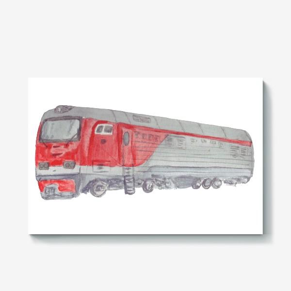 Холст «Поезд тепловоз»