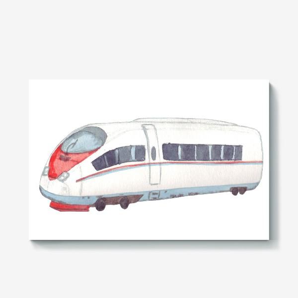 Холст «Скоростной поезд Сапсан»