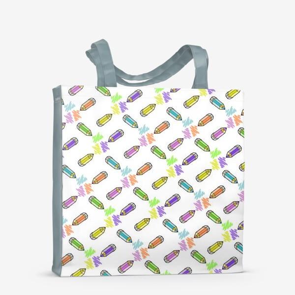 Сумка-шоппер «Цветные карандаши (белый фон)»