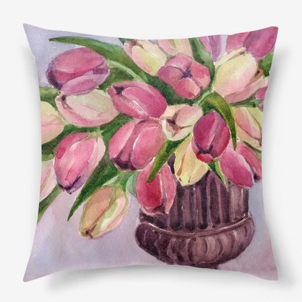 Подушка «Букет тюльпанов»