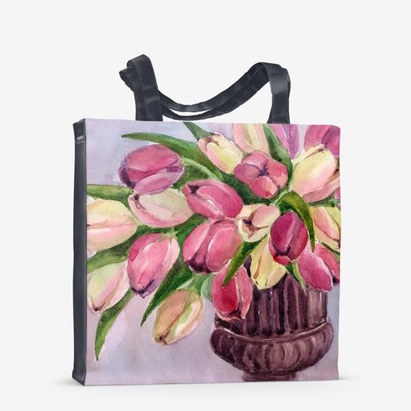 Сумка-шоппер «Букет тюльпанов»