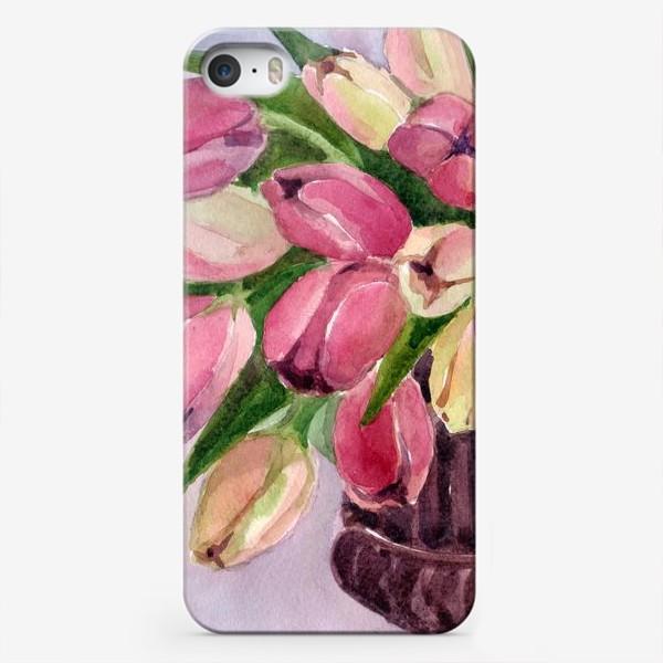Чехол iPhone «Букет тюльпанов»