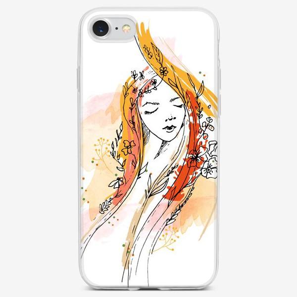 Чехол iPhone «Девушка Осень. Для мамы»