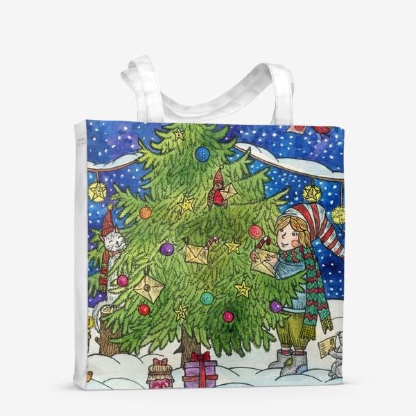 Сумка-шоппер «Новогодняя елка»