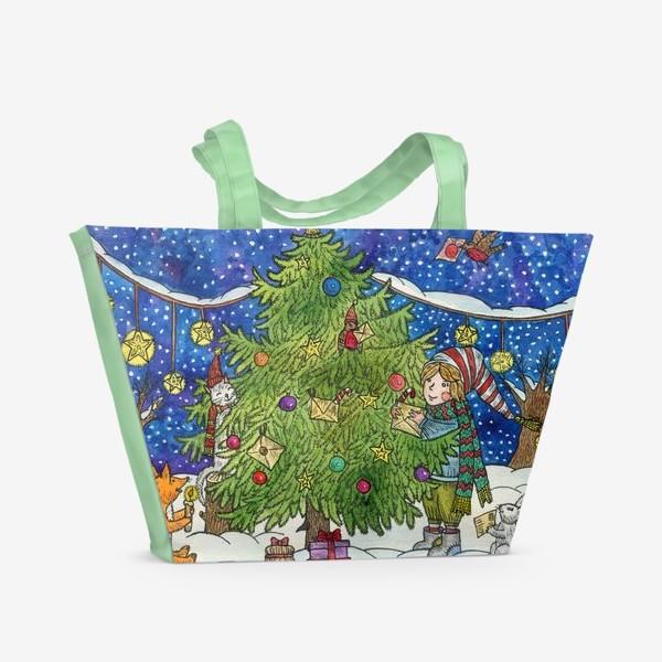 Пляжная сумка «Новогодняя елка»