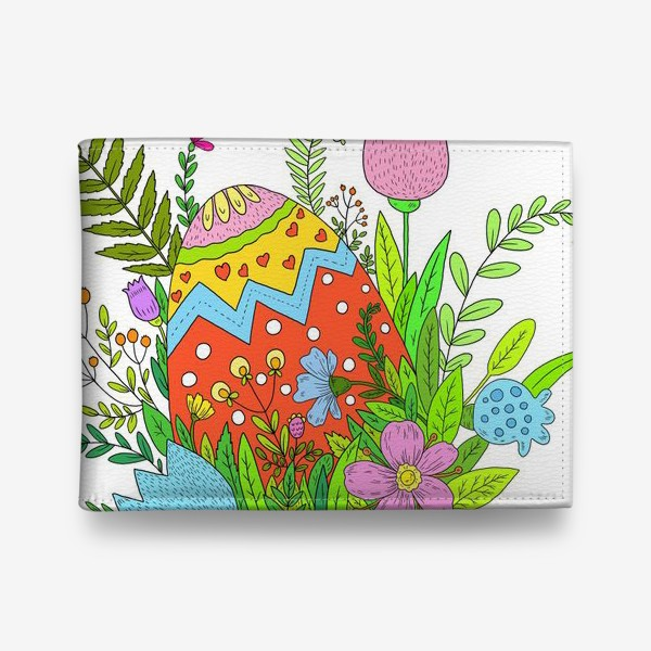 Кошелек «Пасха яйцо и цветы»