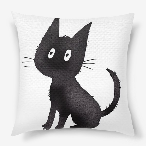 Подушка «Милый чёрный кот»