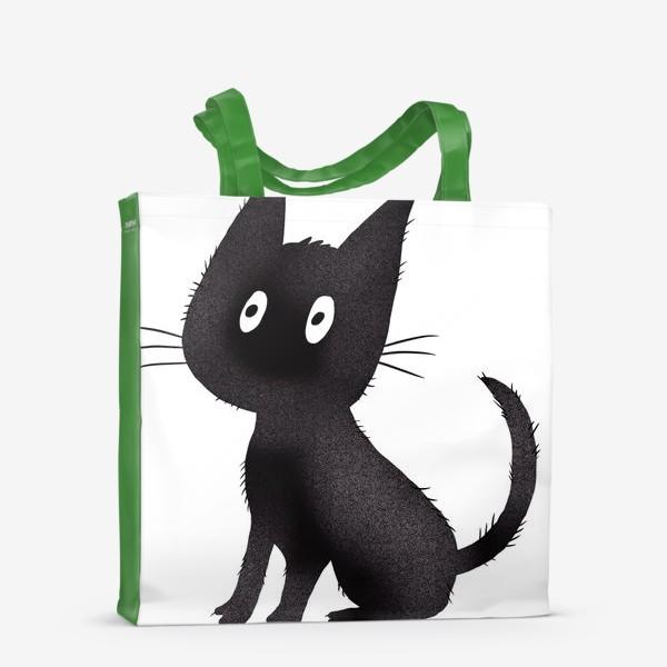 Сумка-шоппер «Милый чёрный кот»