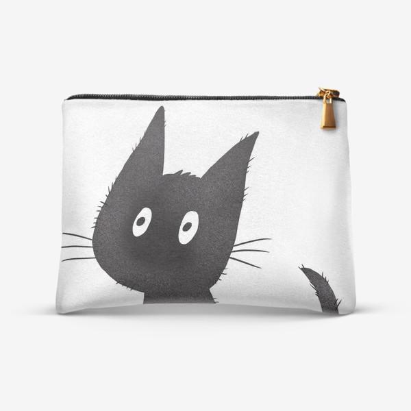 Косметичка «Милый чёрный кот»