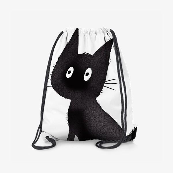 Рюкзак «Милый чёрный кот»