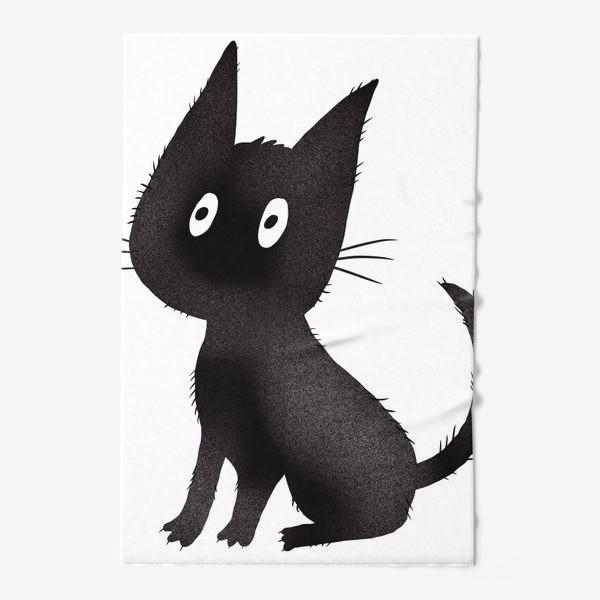 Полотенце «Милый чёрный кот»