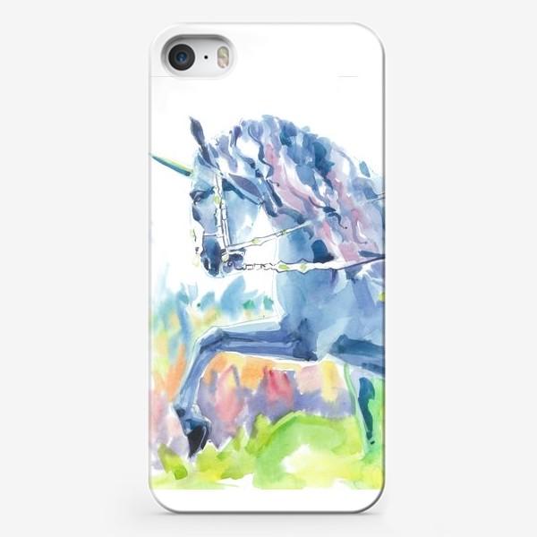 Чехол iPhone «Волшебный лес. Единорог »