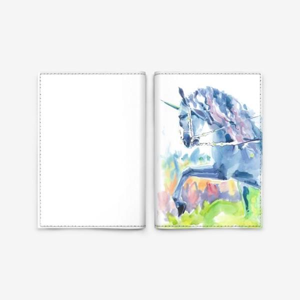 Обложка для паспорта «Волшебный лес. Единорог »