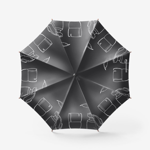 Зонт «Искусство моя жизнь. Принт для художников надпись на черном. Краски,кисти»