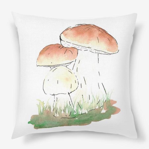Подушка «Porcini mushrooms»