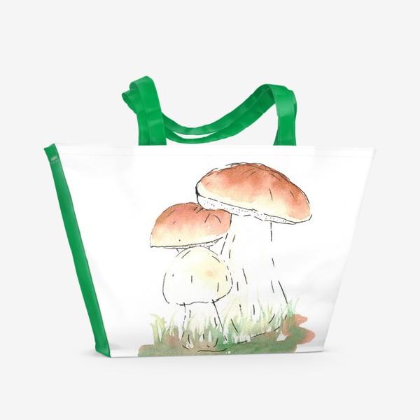 Пляжная сумка «Porcini mushrooms»