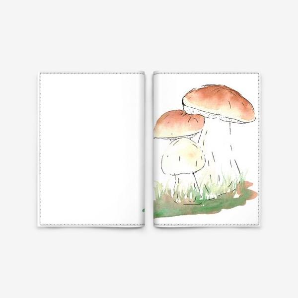 Обложка для паспорта «Porcini mushrooms»