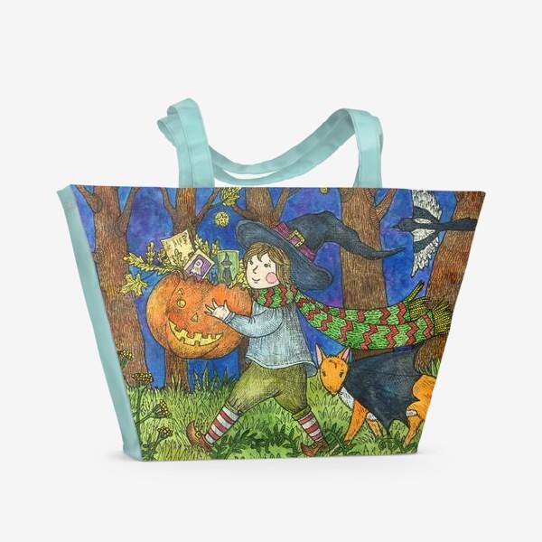 Пляжная сумка «Веселый Хэллоуин»