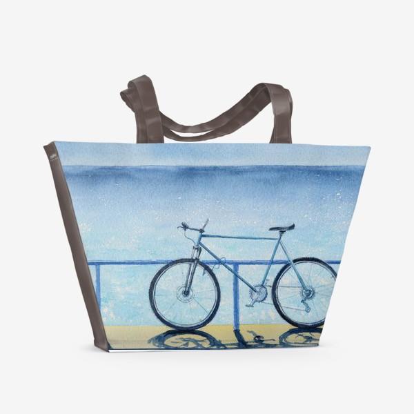 Пляжная сумка «велопрогулка»