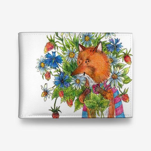 Кошелек «Лис с букетом цветов»