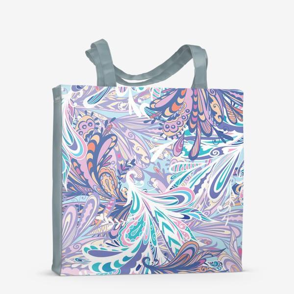 Сумка-шоппер «Абстрактные узоры в синей гамме»