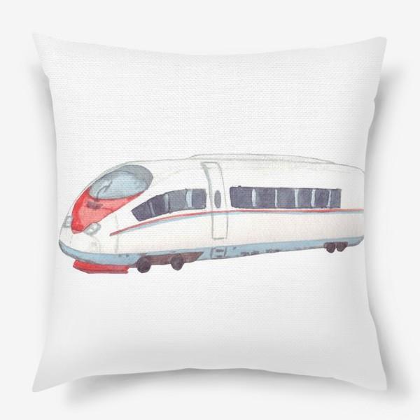 Подушка «Скоростной поезд Сапсан»