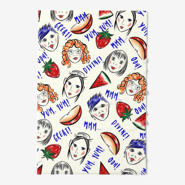 Полотенце «FRUIT & GIRLS»