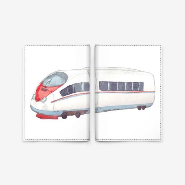 Обложка для паспорта «Скоростной поезд Сапсан»