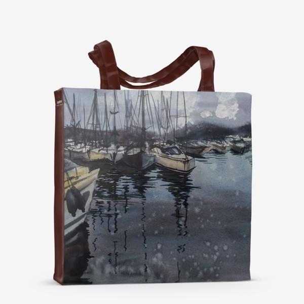 Сумка-шоппер «Лодки в порту»
