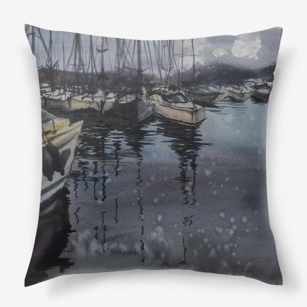 Подушка «Лодки в порту»