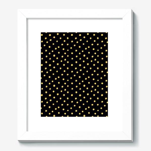 Картина «Паттерн золотистые крапинки на чёрном фоне»