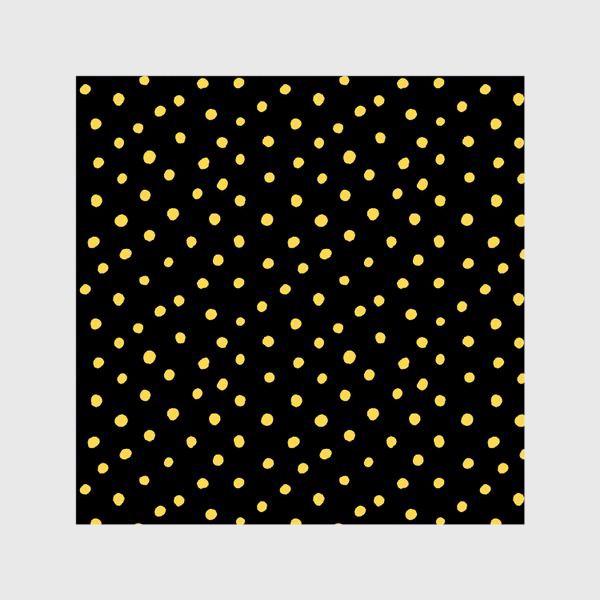 Шторы «Паттерн золотистые крапинки на чёрном фоне»