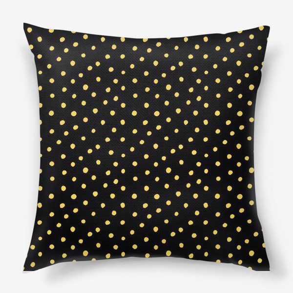 Подушка «Паттерн золотистые крапинки на чёрном фоне»