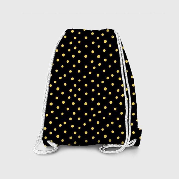 Рюкзак «Паттерн золотистые крапинки на чёрном фоне»
