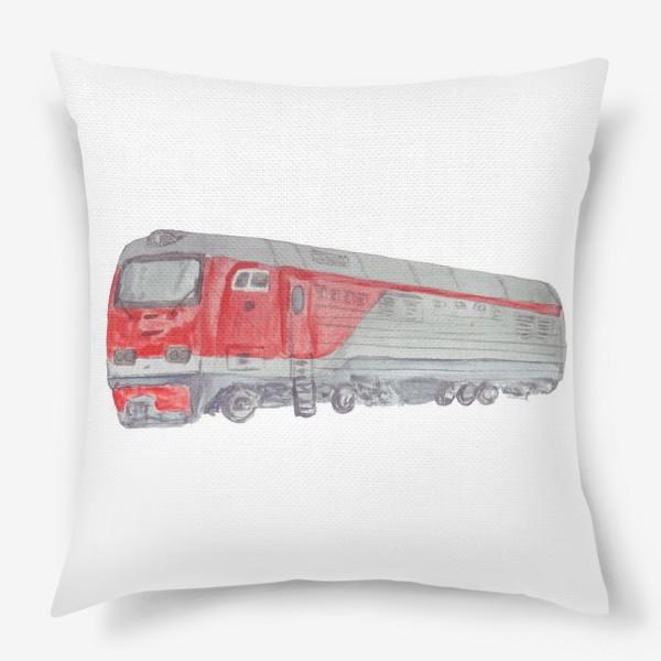Подушка «Поезд тепловоз»