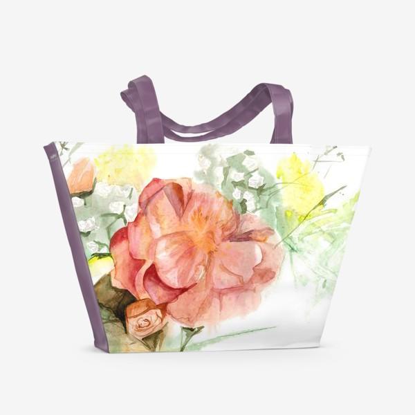 Пляжная сумка «Букет»