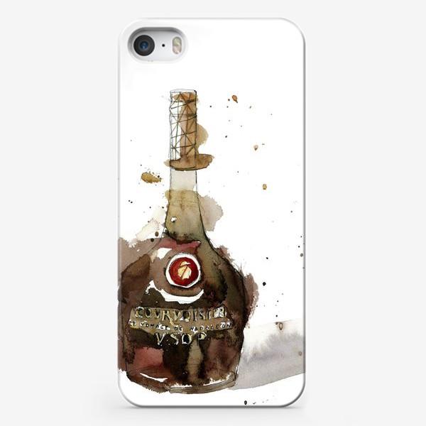 Чехол iPhone «Брызги. Коньяк»