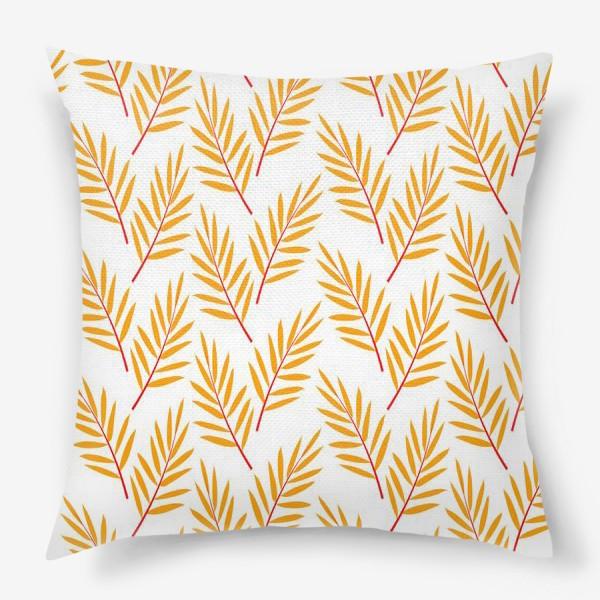 Подушка «оранжевые осенние листья»