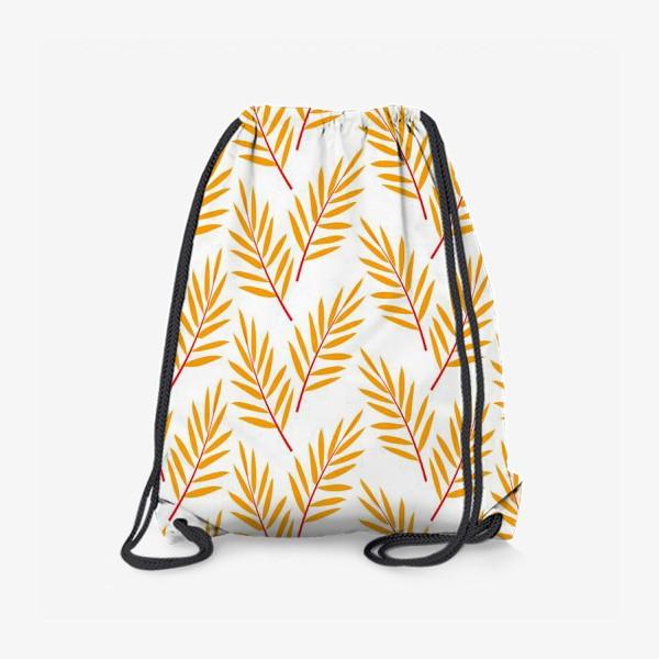 Рюкзак «оранжевые осенние листья»